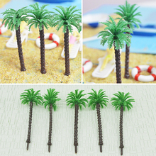 7CM Miniature Scale Model Palm Tree Coconut Tree For Architecture Sea Diorama Scenery Toys Sand Table Tropical Layout Plastic
