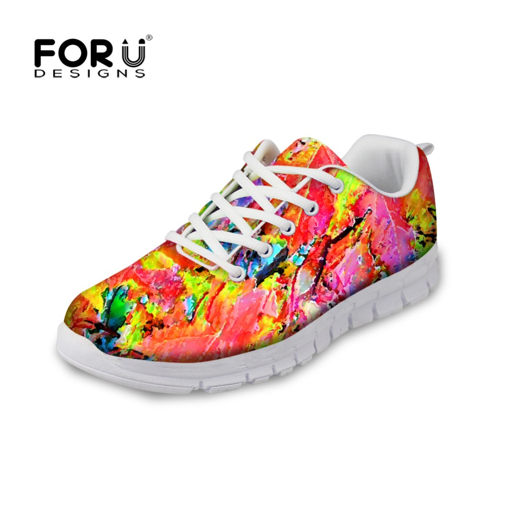 FORUDESIGNS Ladies Casual Flats Shoes Autumn Breathable Comfortable Flat Shoes Women Lace-up Leisure Shoes for Female Zapatos cresfimix zapatos women cute flat shoes lady spring and summer pu leather flats female casual soft comfortable slip on shoes