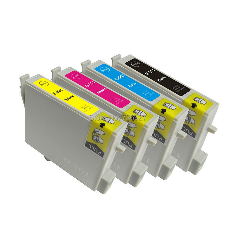 3 sätze kompatibel tintenpatrone t0551 t0552 t0553 t0554 für epson stylus photo...