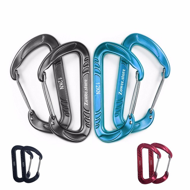 7075 Aluminum Hammock Carabiner Survial Key Chain Carabine Hook Clip Camping Equipment Paracord Buckles for Outdoor Camping