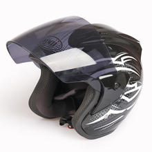 VXS Helmet Dual Shield Unisex Abs Shell 3/4 Open Face Helmet Motorcycle Helmet Motorbike Ece Quick Release System Size 55-62