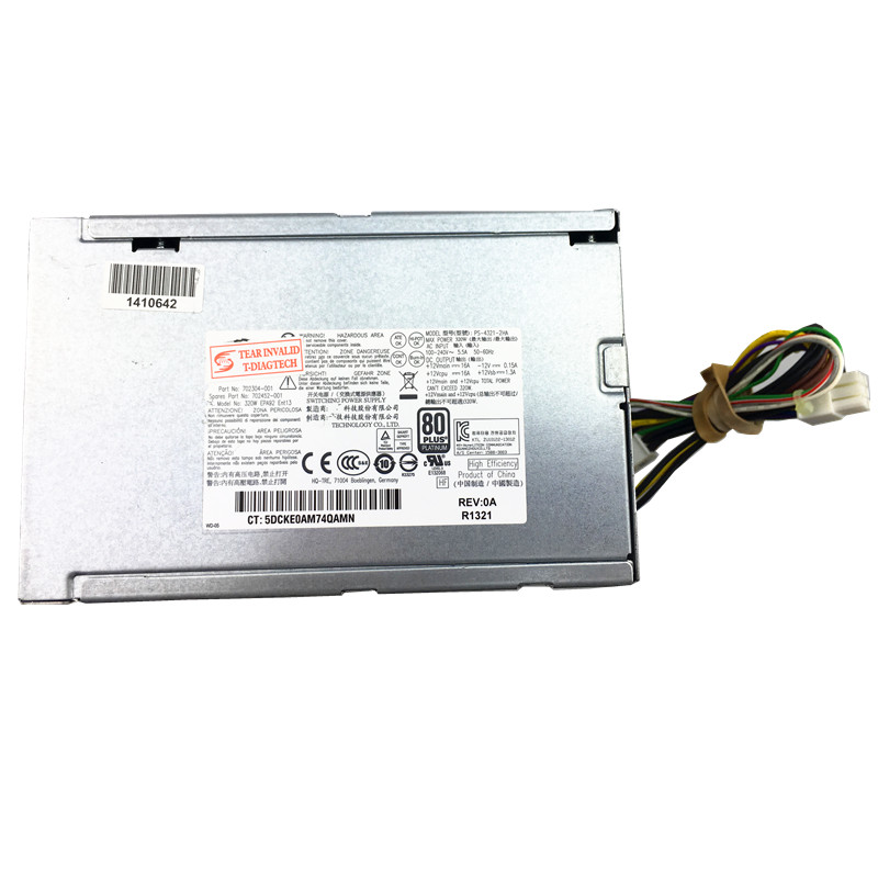 320W PC Power Supply 702304-001 702452-001 PCC005 320W POWER SUPPLY 600 800  G1 Server PSU 320W Power for Desktop and Server 320W PC Power Supply 702304-001 702452-001 PCC005 320W POWER SUPPLY 600 800  G1 Server PSU 320W Power for Desktop and Server