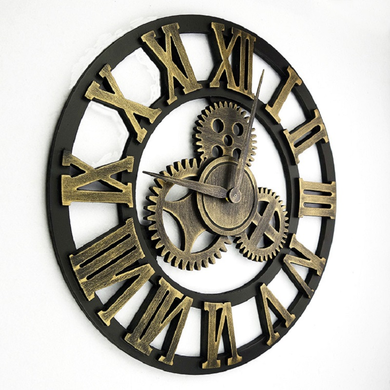 Clock backlight picture more detailed picture about 45cm large wall clock saat 3d clock reloj for Plaque decorative murale