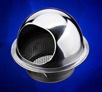 Coperchio in acciaio inox ss304 fumo cap cappuccio della parete uscita 8 cm o 10 cm diametro