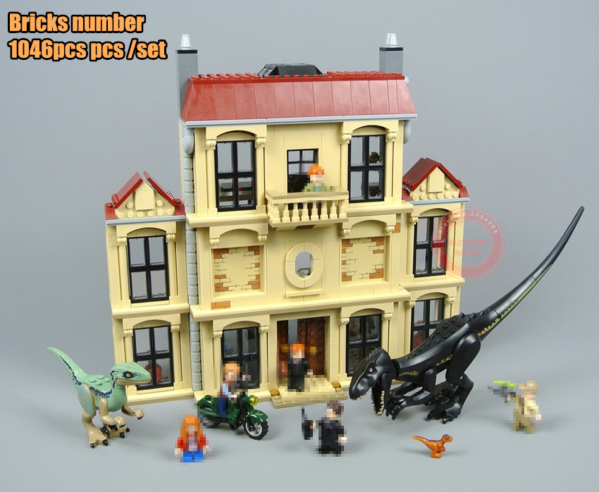 New Indoraptor Rampage Lockwood Estate house fit Jurassic World city dinosaur park figures Building Block Brick