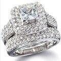 Виктория Вик Величественные Sensation 134 Шт. Топаз Моделируется Алмаз 14KT Белого Золота GF Обручальное Кольцо Sz 5-11 Бесплатная доставка