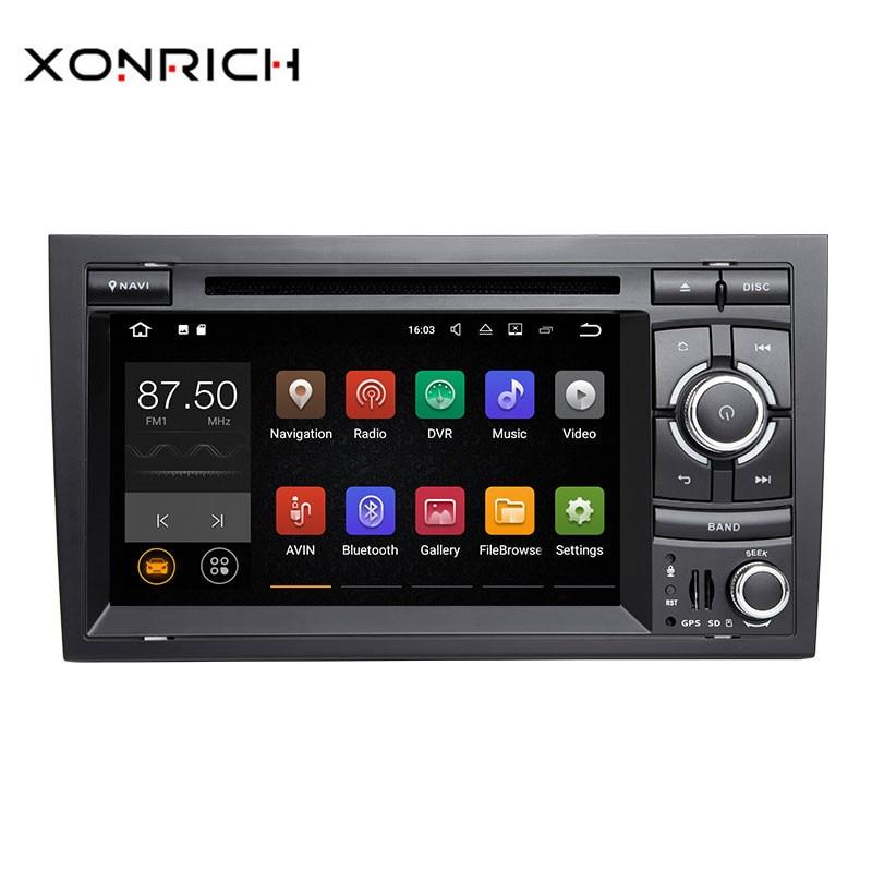 Xonrich 2 Din Android 8.1 Voiture Lecteur DVD GPS Autoradio Pour Audi A4 B6 B7 S4 B7 B6 RS4 2002-2008 RS4 B7 SEAT Exeo 2008-2012 Radio