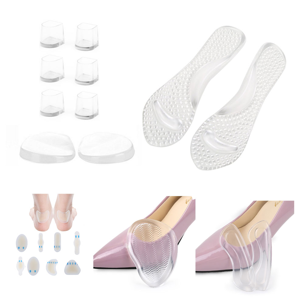 Tcare-1set foot care gel pad, O/X type Leg Orthopedic Insole, heel Back Pads, Metatarsal Pads, Gel Shoe Insoles