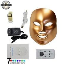 2019 Best PDT photon led facial mask 7 colors led light therapy skin rejuvenation wrinkle removal beauty machine facial mask цены