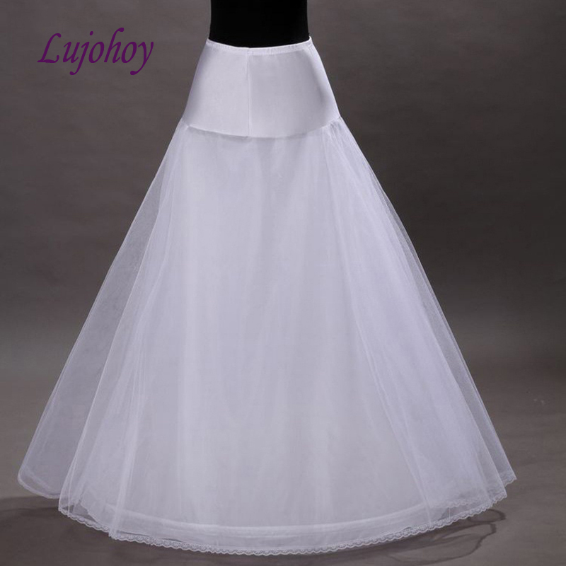 White Or Black Petticoat Long For A Line Wedding Dress Tulle Bridal Underskirt Girls Woman Jupon Crinoline Pettycoat