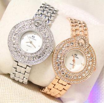 FA1194 Women Watche Luxury Crystal Bracelet Gemstone Wristwatch Dress Watches Women Ladies Gold Watch Fashion Female