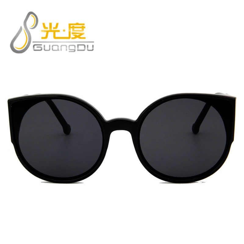 GUANGDU Large Frame Cat Eye Shade For Women Fashion Sunglasses Brand Woman Vintage Retro Oval Glasses Oculos Feminino Glasses
