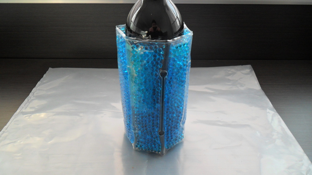 Round pearl Wine Bottle Cooler Wrap(wine cooler,ice pack