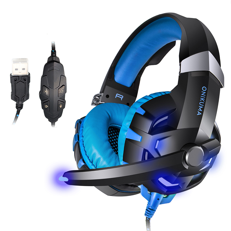 DPRUI K2 Gaming Headset PS4 Headset Bass Stereo Computer Game Headphones with microphone LED Light for PC New Xbox One Tablet original fashion computer game headphone wired gaming headset super bass stereo earphone with led light microphone for lol ps4