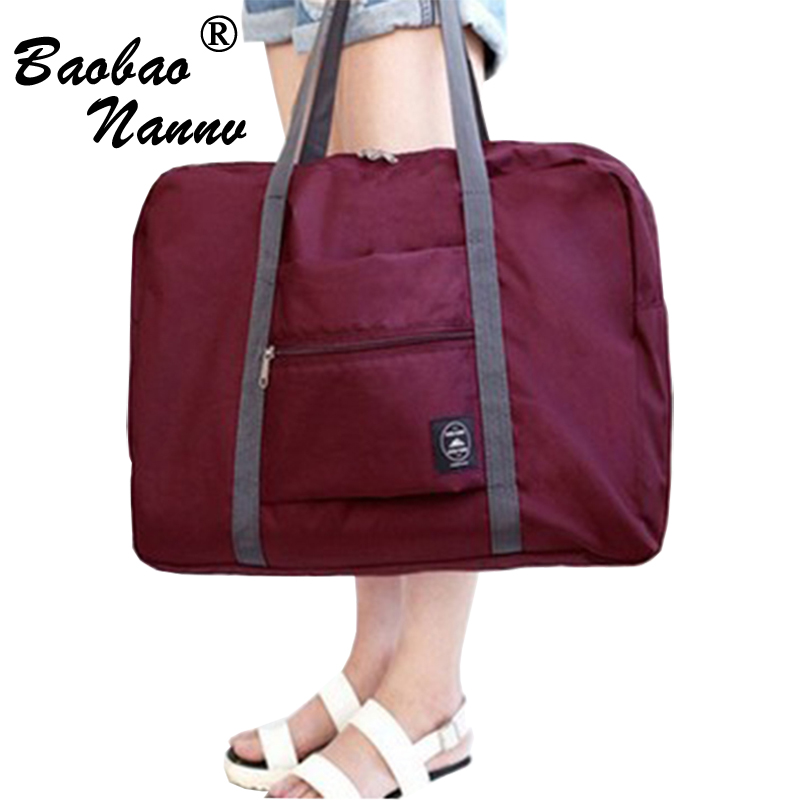 WaterProof Folding Travel Bags Fashion Men Large Capacity Bag Women Nylon Durable Case Unisex Luggage Travel Handbags 4 Colors цена в Москве и Питере