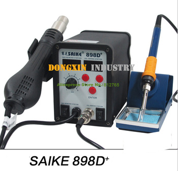 цена на DHL free Saike 898D+ 110V or 220V the upgrade version of saike 898D hot air gun rework station,soldering station SAIKE-898D+