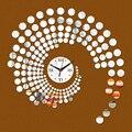 2015 new hot sale 3d diy wall clock clocks quartz watch living room  modern design acrylic wall stickers free shipping Geometric
