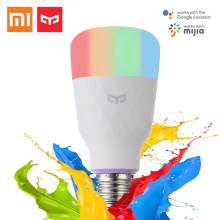 Xiaomi Yeelight Smart LED Bulb Color and white versions 800 Lumens 10W E27 Lemon Smart Lamp For Mi Home App updated version(China)
