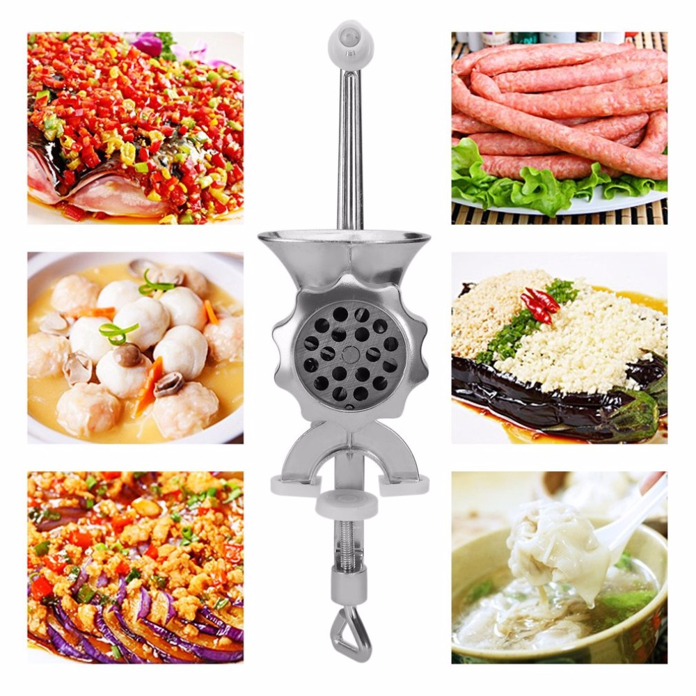 Manuale di Carne Smerigliatrice Rettifica Macchina di Famiglia Uso di Carne Salsiccia di Riempimento Macchina di Torsione di Riempimento Aglio Cutter In Lega di Alluminio Per Uso Domestico