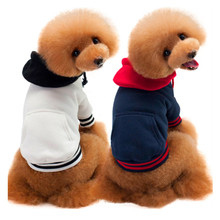 FP13 New Pet dog Cotton Hoodie clothes with pocket 2017 Fashion Fight color sweaters for Small dog Cat Chihuahua sport Jacket
