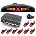 Автомобилей Датчики Парковки 8 Датчики 13 мм плоские Датчики парковки 4 Передняя 4 Сзади + ЖК-Дисплей + Voice Alarm Парковка Задним Ходом Радар
