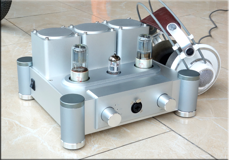 6SN7X2+12AX7 Hi-End Class A Pure Tube Headphone Amplifier HiFi Stereo Preamplifier Silver / Black купить
