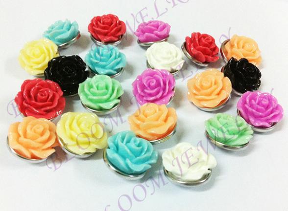 H001  20pcslots   snap button random delivery  Resin flower OEM, ODM  for   bracelet