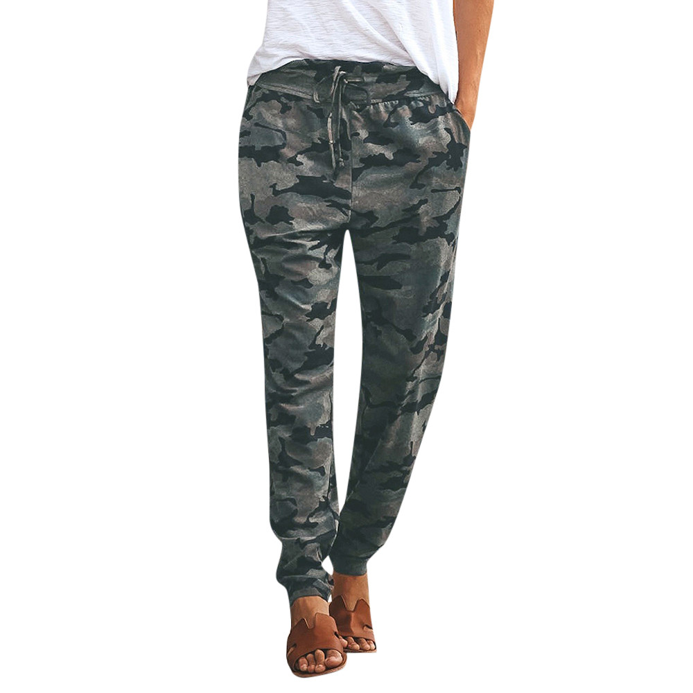 Camouflage Print Casual Pants Women Fashion Casual Sports Pants Slim Fit Jogger Women Trousers Streetwear Pantalones Mujer