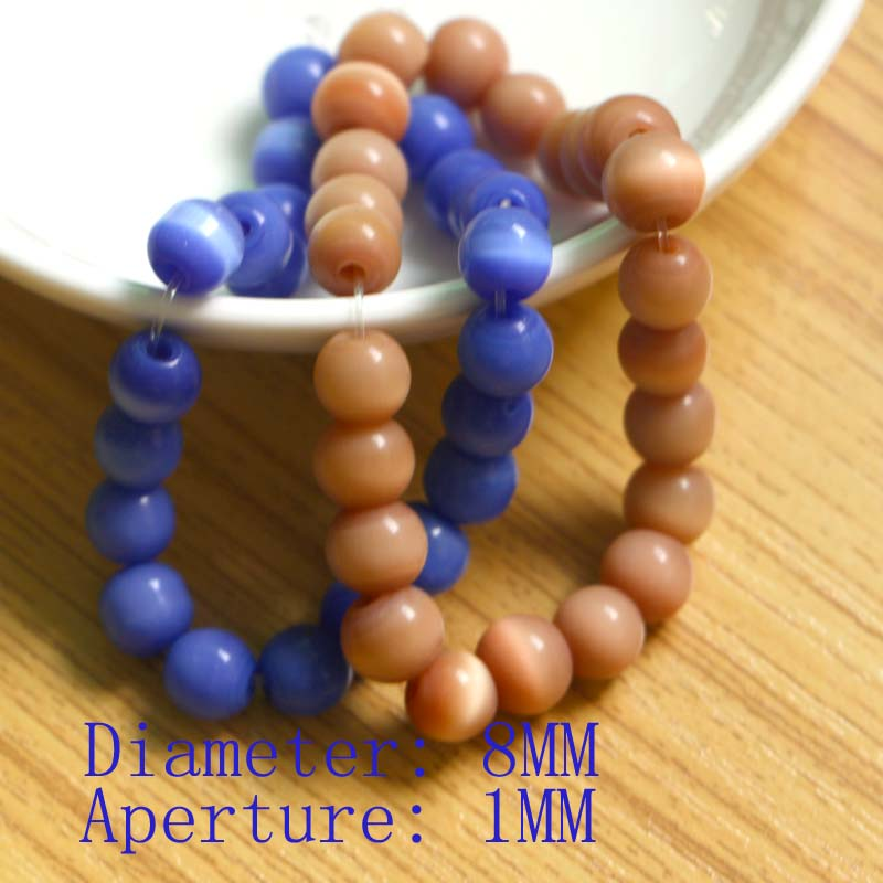 50PCS  Beads For Jewelry Making 8mm Dia. DIY Accessories Handicrafts