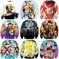 Novos personagens de anime 3d camisolas de dragon ball z goku camisola dos desenhos animados do sonic imprimir crewneck pullovers dos homens outerwear casuais