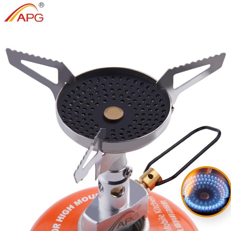 APG En Plein Air Anti-brûlure Portable Gaz Poêles Meilleur Mini Camping Matériel de Cuisine