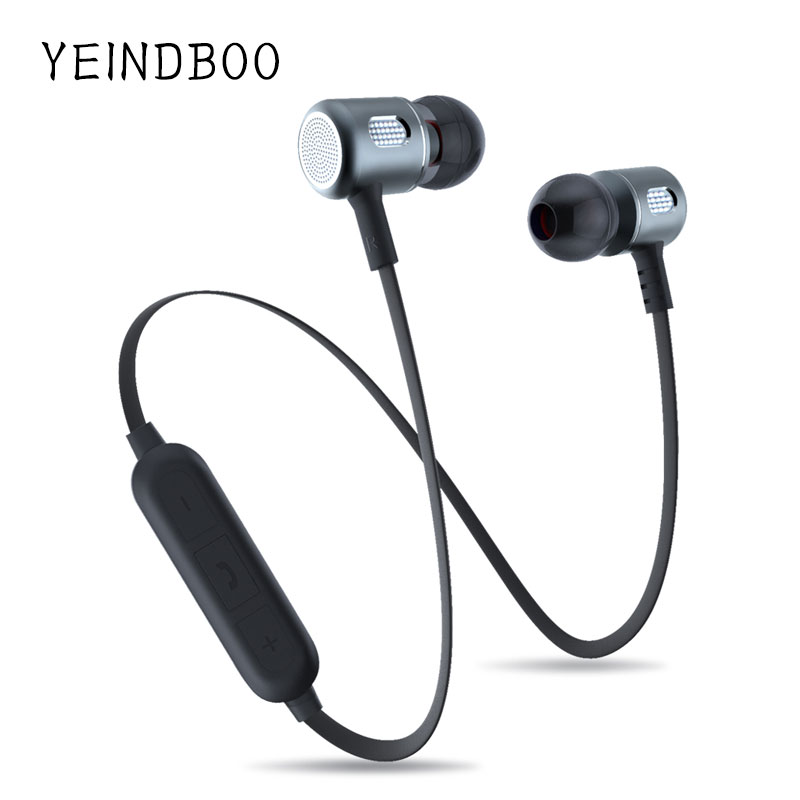 YEINDBOO Bass Bluetooth Earphone Wireless Earphones With Mic Magnetic in ear Bluetooth Earbuds Headset For Mobile Phone Sports