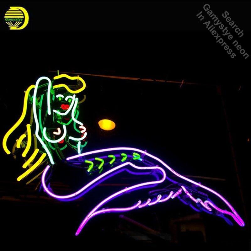 Enseigne au néon pour sirène mer Maid néon Tube signe commercial lumière artisanat lampe magasin affiche oeil attraper néon lumière signe