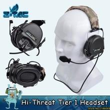 Z ยุทธวิธี Softair ชาของตราสารใหม่ Hi   Threat ชั้น 1 Z TAC หูฟัง Z110