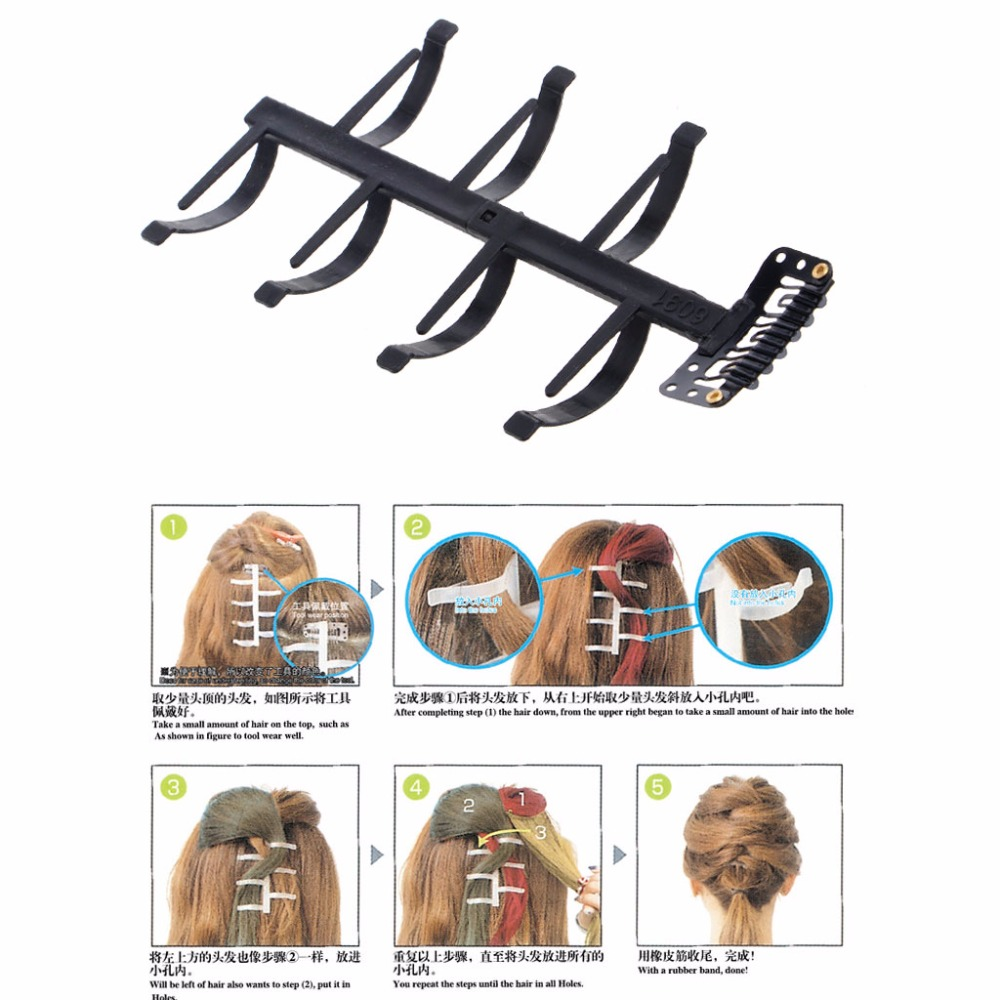 Women Girls Magic French Hair Roller Braiding Tool Braider Styling Bun Maker ...