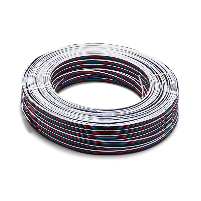 10roll 100m 22AWG 20AWG 18AWG 3 4 Pin RGB Extension Cable 5 Core RGBW Power Electrical Copper Wire For LED Strip Light Bulb Lamp-in Connectors from Lights & Lighting    1