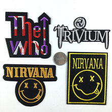 Embroidered patch rock band heavy metal flag thermal stickers badge thermo-adhesive clothing