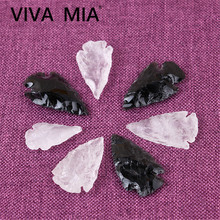 1pc Obsidian Arrows Earrings Accessories For Jewelry Necklace DIY Crystal Stone Bracelet Materials Stones Natural Pendant стоимость