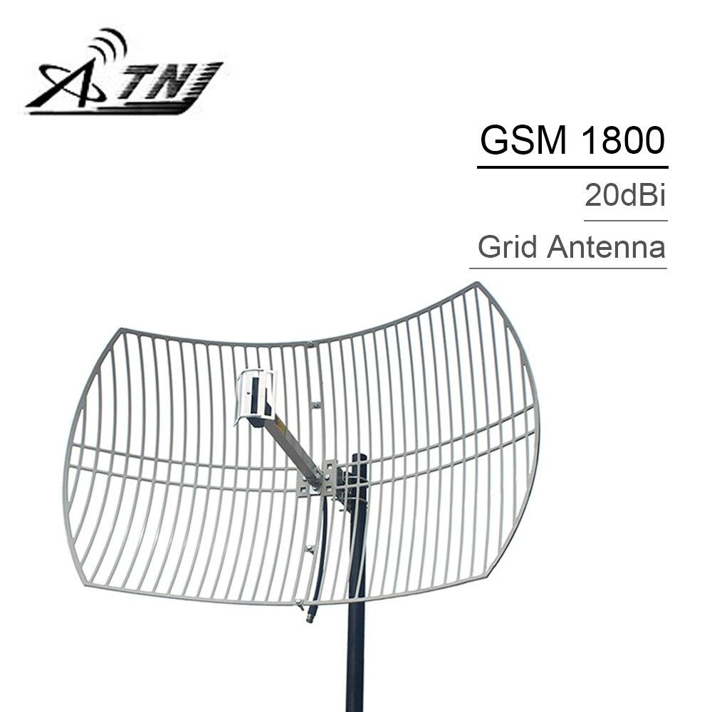 20dBi High Gain External Grid Antenna 1710-1880mhz Work For AWS 1700 DCS/LTE 1800 Mobile Phone Signal Booster N Female Connector