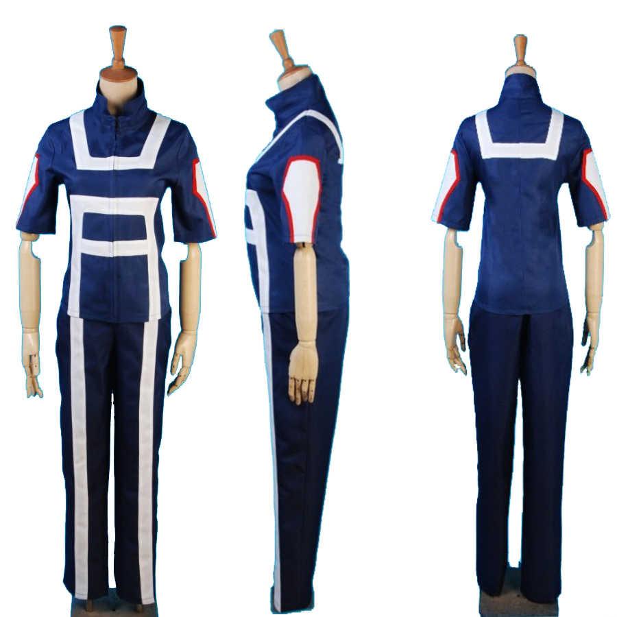 Boku No Hero Academia mi héroe Academia traje de gimnasio uniforme de escuela secundaria ropa deportiva traje Anime Cosplay disfraces