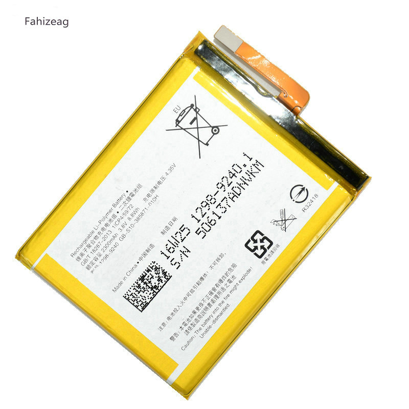 Fahizeag 2300mAh LIS1618ERPC Replacement <font><b>battery</b></font> for Sony <font><b>Xperia</b></font> <font><b>XA</b></font> F3111 E5 F3113 F3116 F3115 F3311 F3112 F3313 G8232 image