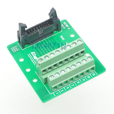 IDC16 male plug 16pin port header Terminal Breakout PCB Board block 2 row screw d sub db25 male 25pin plug breakout pcb board 2 row terminals connectors