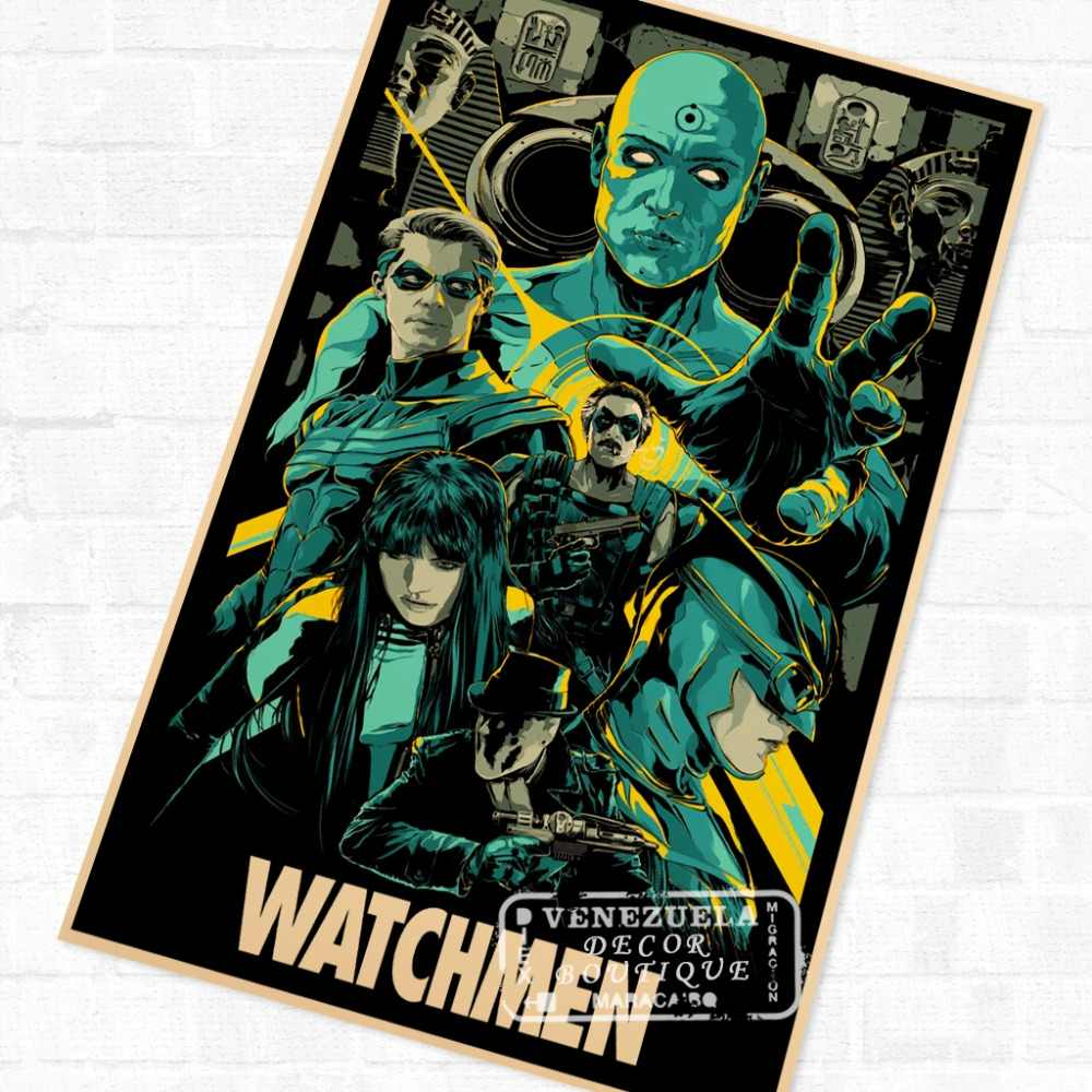 Sci-fi Pop Watchmen Film Movie Propaganda Vintage Retro Kraft Poster  Decorative DIY Wall Canvas