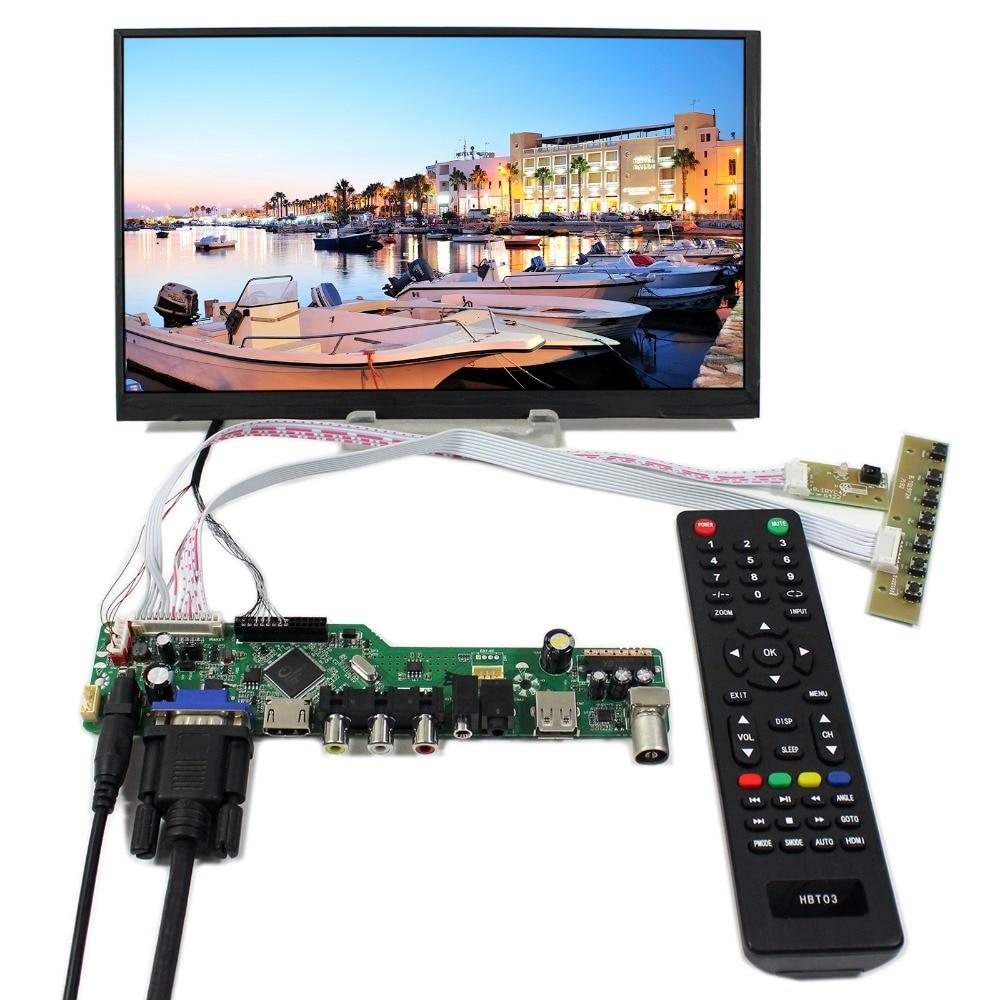 TV+HDMI+VGA+AV+USB+AUDIO LCD Controller Board With 10.6inch 1366X768 LTL106AL01 IPS LCD Screen vga hdmi lcd controller board for lp156whu tpb1 lp156whu tpa1 lp156whu tpbh lp156whu tpd1 15 6 inch edp 30 pins 1 lane 1366x768