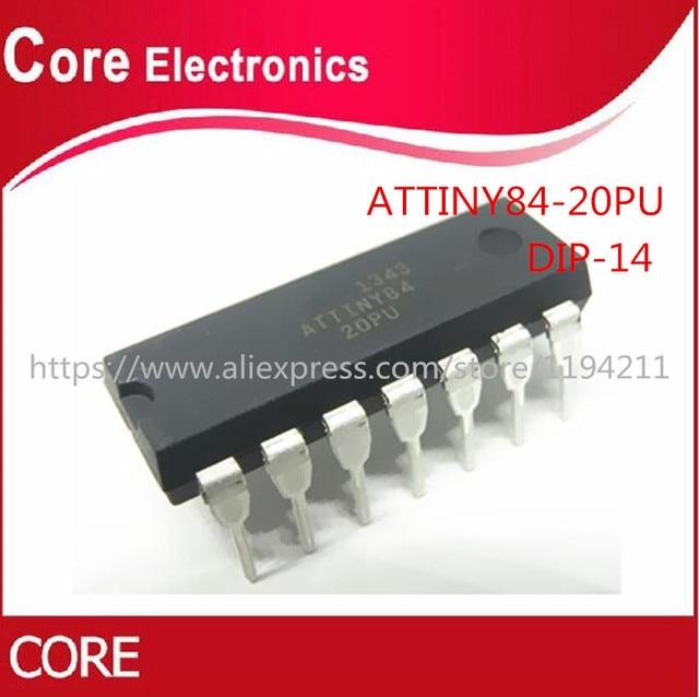 5pcs/Lot ATTINY84 20PU ATTINY84 ATTINY84 20 MCU 8BIT 8KB FLASH 14 DIP IC Best quality