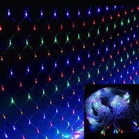 15W Colorful LED Light Net Christmas Mesh String Light 4.5x1.6M fairy Christmas decorative Lamp Outdoor New Year Party IP44