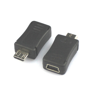 5pcs/lot  Mini USB To M Icro USB Adapter M Icro USB Male Turn Mini USB Female Adapter