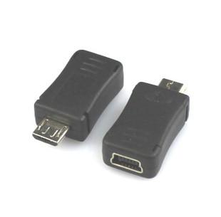5pcs/lot  Mini USB To M Icro USB Adapter M Icro USB Male Turn Mini USB Female Adapter