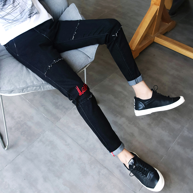 Cheap Wholesale 2019 New Autumn Winter Hot Selling Man Fashion Casual  Denim Pants Male Jeans MP251