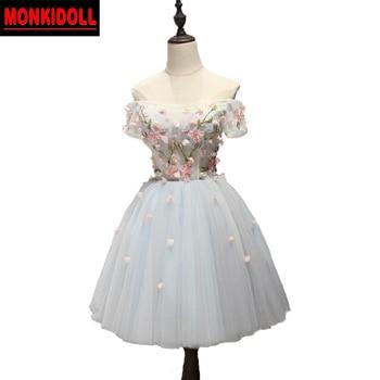 52ee804bfe2d0 Şık Kollu Mezuniyet Elbiseleri 2019 Boncuklu Çiçekler Korse Kısa Balo Elbise  Ortaokul Mezuniyet Elbiseleri Kokteyl Elbisesi